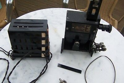 1934 Hand Operated Pathescope Ace 9.5 Projector And Resistance ( Repairs/spares