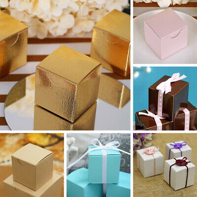 """300 pcs FAVOR BOXES 2""""x2"""" Wedding Party Home Decorations GIFT Supply WHOLESALE"""