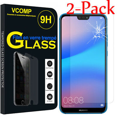 2Pcs Tempered Glass Screen Protector Film For Huawei P20 Pro / P20 Lite / P20