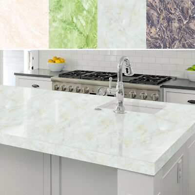 Marble Contact Paper Self Adhesive Glossy Worktop Peel Stick Wallpaper Roll