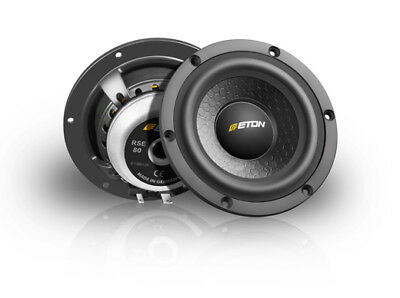 "Eton rse80 8cm 4 "" HIGH END HIFI MID-RANGE CAR SPEAKERS LOUD SPEAKER MIDRANGE"