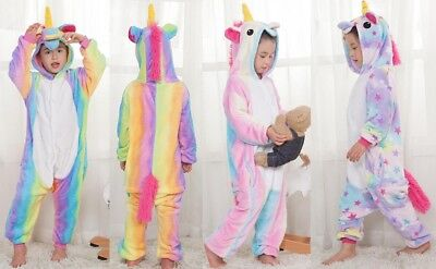 Kids Cute Animal Unicorn Onesie11 Plush Pajama Kigurumi Costume Cosplay Party
