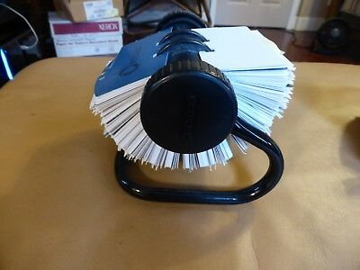 Rolodex Model Rotary Vintage black w/ blank cards +