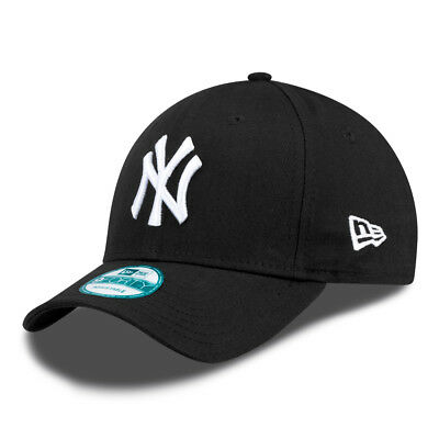 New Era Curved Cap New York Yankees Basic black/white | 9FORTY
