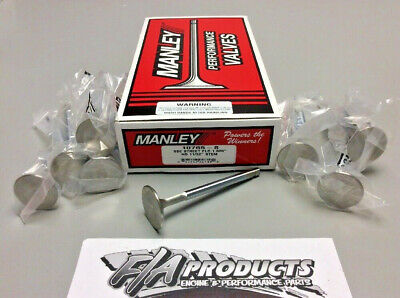 "Manley 10765-8 1.600"" Small Block Chevy Street Flo Exhaust Valves Set Of 8"