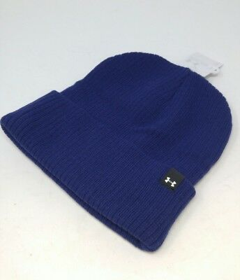 57a890b31fe Under Armour Womens One Size Boyfriend Cuff Beanie Winter Hat Europa Purple