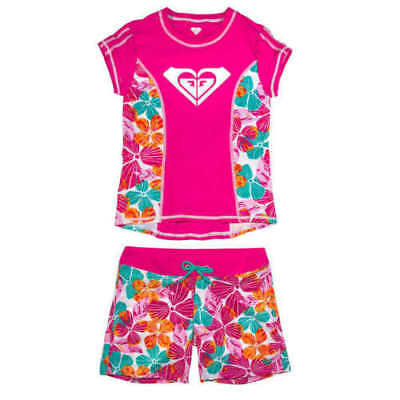 Roxy 2 Piece Rash Guard Tankini Swimsuit Set UV Board Short - Size Varies  AB-22