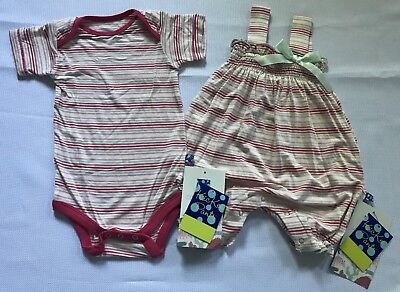 Kickee Pants 2pc Set Girls Desert Stripe 1pc & Romper, Sz 6-12mns, NWT!