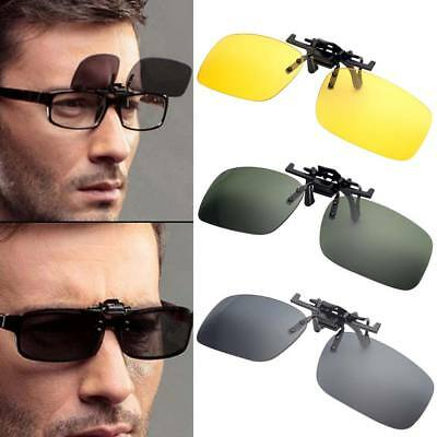 Clip On Flip Up Sunglasses Lens Driving Polarized Spectacles Eyewear Extension