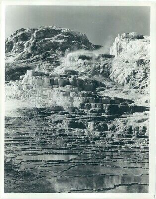 1982 Press Photo Minerva Terraces Mammoth Hot Springs Yellowstone Park