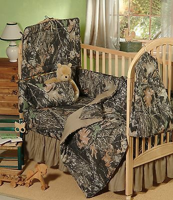 Mossy Oak Camo Baby Crib Fitted Sheet, Camouflage Toddler Bedding