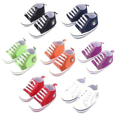 Baby Shoes Boy Girl Trainers Newborn Pre Walker Infant Toddler Soft Pram 0-18
