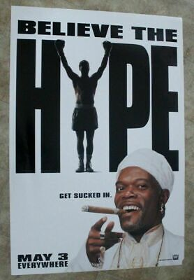 Great White Hype 1996 Samuel L Jackson Believe the Hope Advance One Sheet Poster