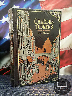 NEW SEALED Charles Dickens: 5 Five Novels Bonded Leather Collectible Edition
