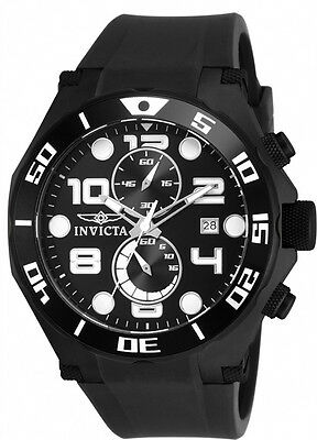 Invicta Men's Pro Diver Chrono Black Stainless Steel / Polyurethane Watch 15397