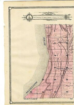 1908 Map south part Union twn, Illinois, from Atlas of Union County w/fam. names