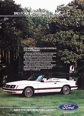 1983 FORD MUSTANG CONVERTIBLE Vintage Advertisement~ Limited Availability