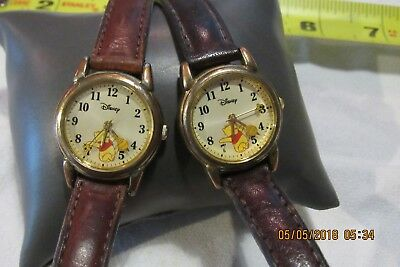 2 Winnie the Pooh Wrist Watches, Japan Movement,  #MUO116  f130