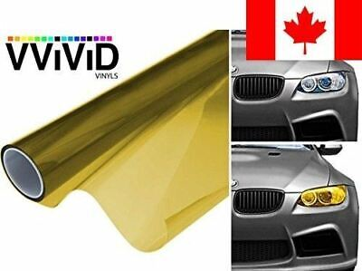 VViViD XPO Golden Yellow Headlight - Tail Light Window Tint 2-Pack (12in X 24in)