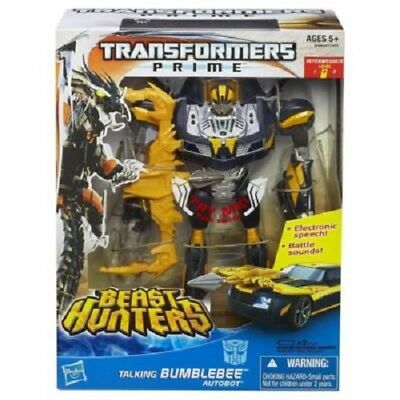New Transformers Prime Beast Hunters Talking Bumblebee Autobot A5348