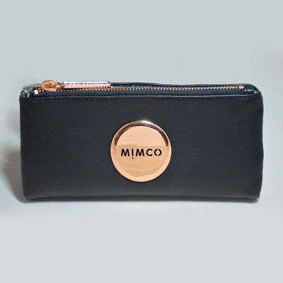 Mimco Rose Gold Sheep Leather Fold Wallet Purse Rrp $179 Clearance