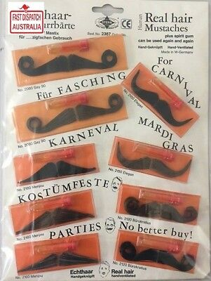 European Moustaches - 100% Human Hair - REALISTIC! Perfect and loads too