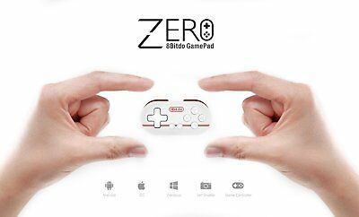 8bitdo FC30 Zero Bluetooth Controller Gamepad for IOS Android Windows Mac Red