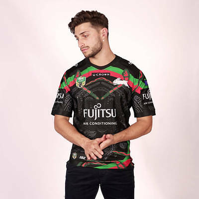 South Sydney Rabbitohs NRL 2018 ISC Indigenous Jersey Mens & Kids Sizes!