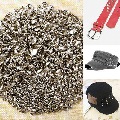 300x Double Caps Studs Rivets Set DIY Crafts Bags Shoes Leather Decor 6/8/