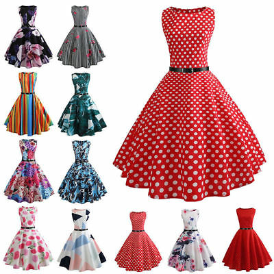 Vintage 50s 60s Retro Style Rockabilly Pinup Housewife Party Swing Tea Dress NEW