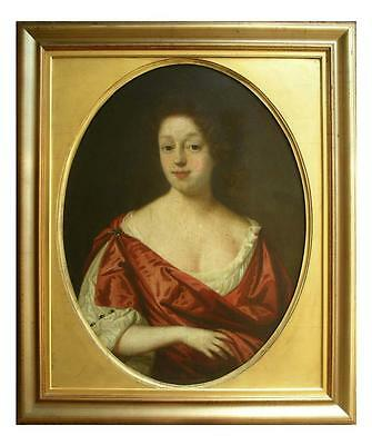 FINE 17th 18th C LARGE OIL PORTRAIT PAINTING OF LADY CIRCLE OF CHARLES D'AGAR