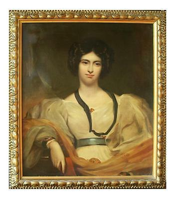 VERY LARGE BEAUTIFUL OIL PORTRAIT 1820s LADY 19TH CENTURY 18TH