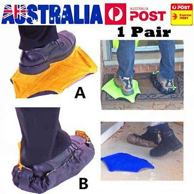 1 Pair Step In Sock Hands Free Shoe Covers Reusable Shoe Boot Cover Automatic GT