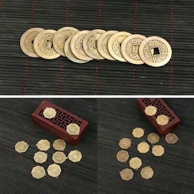 10PCs/Set Feng Shui Lucky Chinese Fortune Coin Oriental Emperor Qing Money Set
