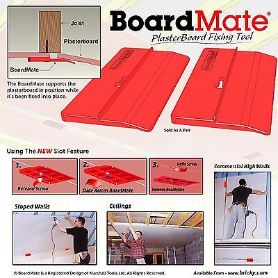 BoardMate - Plasterboard Fitting Tool, supports the board in place while fixing.