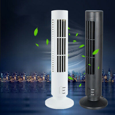Portable Mini USB Tower Fan Cooling Bladeless Air Conditioner For PC Laptop Desk