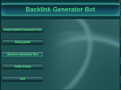Create backlinks on autopilot for Your Website with the Backlinks Generator!