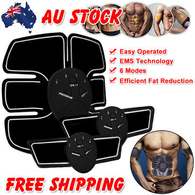 Muscle Stimulator Training Gear ABS Trainer Fit Body Home EMS Exercise Belt AU