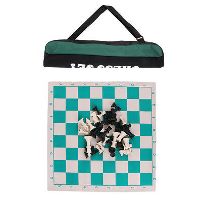 Tournament Chess Set with Bag Weighted Chess Pieces Chess Roll Up Board Set