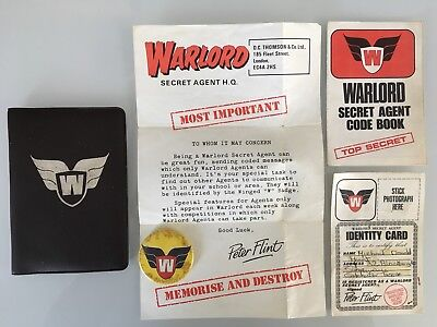 WARLORD SECRET AGENT Club Comic Fanclub Lord Peter Flint - £35.00 ...