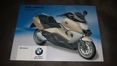 2012 - 2014 Bmw C650 Gt Owners Manual