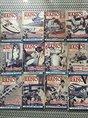 RADIO AND HOBBIES 12 Magazines 1949 Vintage Collectables