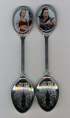 Xena Warrior Princess 2 Silver Plated Spoons Featuring Xena & Gabrielle