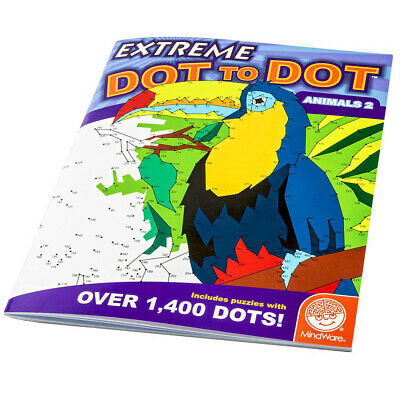 Extreme Dot To Dot Animals 2 - Children Hard Animal Dot 2 Dot Puzzle book