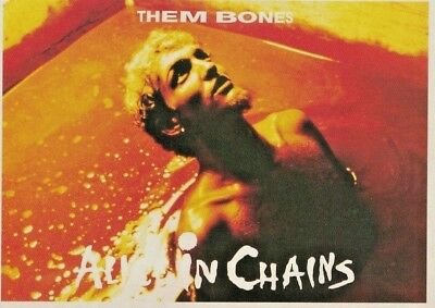 Alice in Chains - Them Bones. 1993 Vintage Postcard. FREE INTERNATIONAL SHIPPING