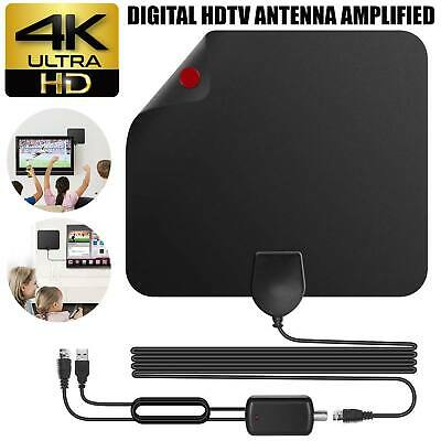 Digital HDTV Indoor Freeview Antenna with TV Aerial Amplifier 80 Mile Range-Thin