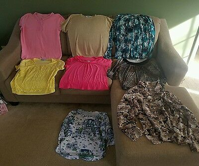 Womens size large clothes mixed lot of 8 (Anbm)