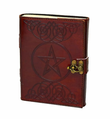 Pentagramm Gothic Hell Leather Journal Diary PREMIUM PAPER Cotton Handmade India