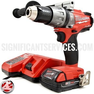 "Milwaukee FUEL 2704-20 18V M18 1/2"" Cordless Brushless Hammer Drill Driver Kit"