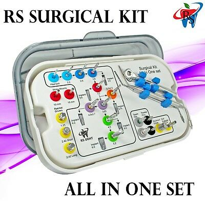 RS Dental Implant Abutment Universal Surgical Drills Instrument Tools Kit 23pcs